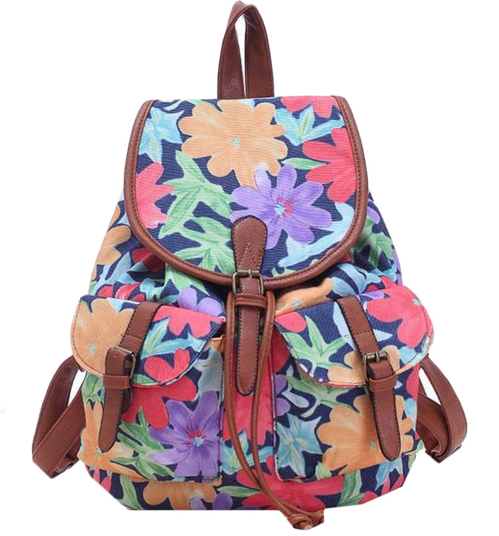 MLG Women & Girls Canvas Backpack Casual Book Bag Knapsack Red OS by MLG (Image #1)