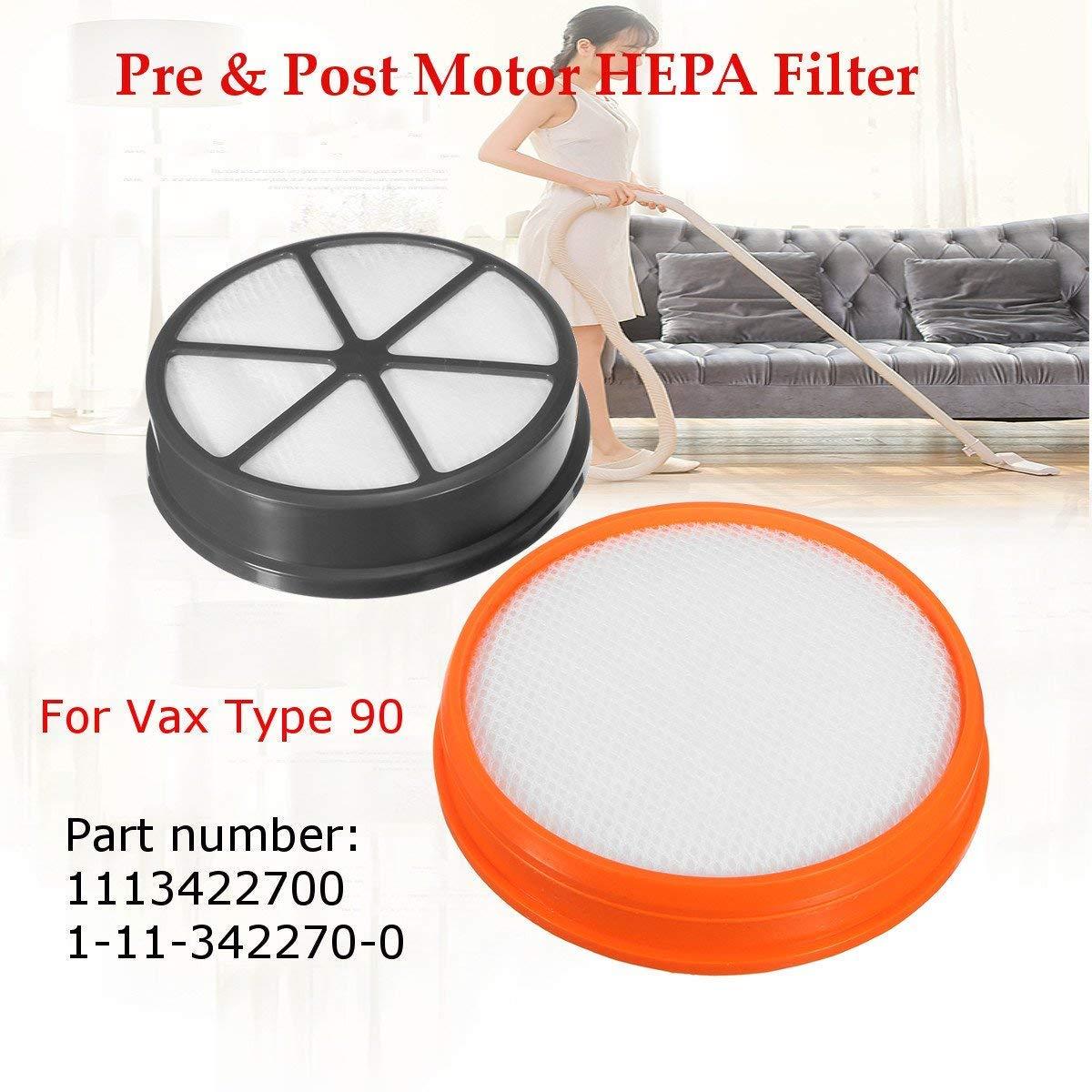 Pre Amp Post Motor Type 90 Hepa Filter Kit For Vax Air