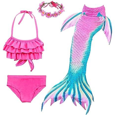 Cola de Sirena para Nadar Niña Traje de Cosplay Trajes de ...