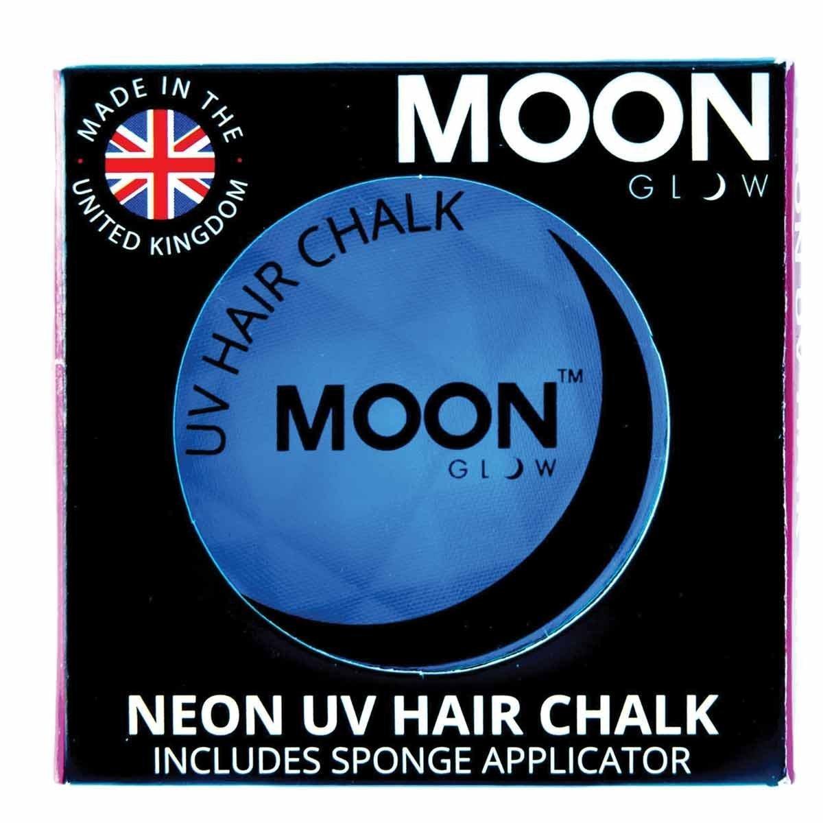Moon Glow - Blacklight Neon Hair Chalk 0.12ozBlue– Glows brightly under Blacklights / UV Lighting!