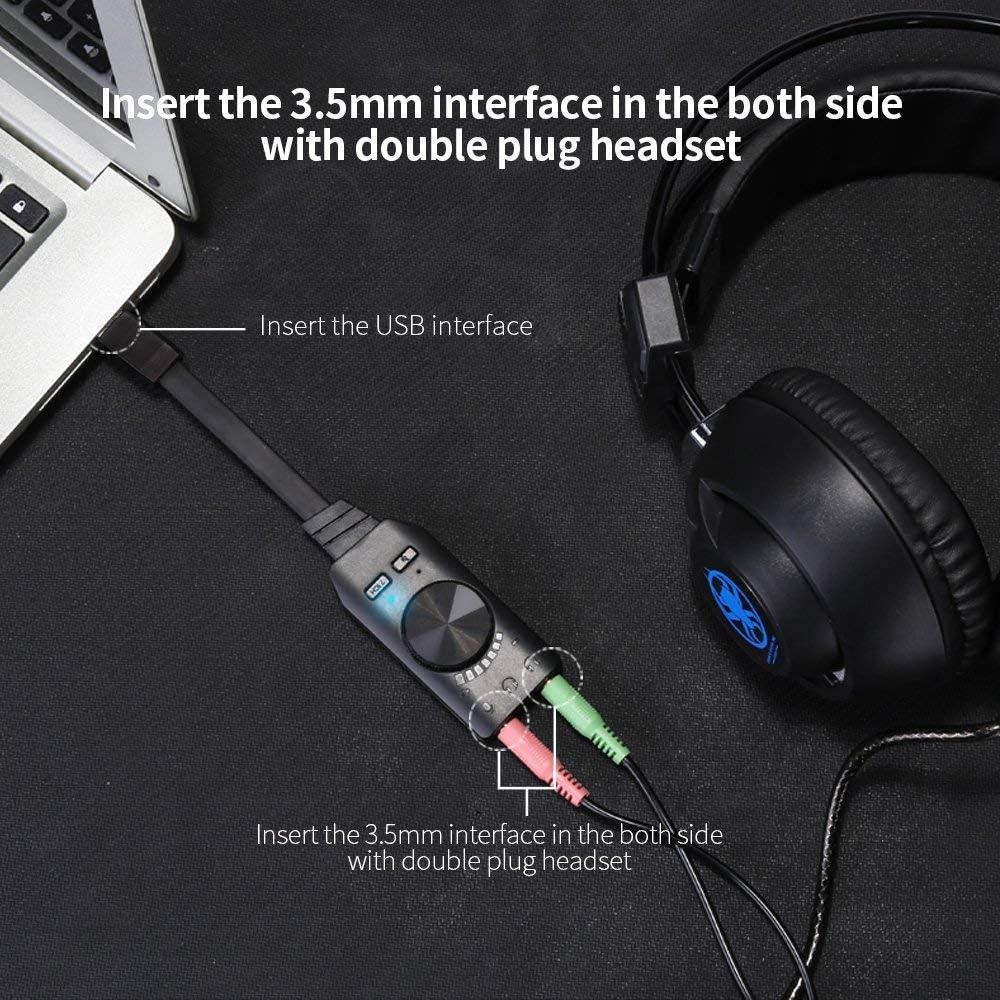 Amazon.com: Tarjeta de sonido USB adaptador, winloop Virtual ...