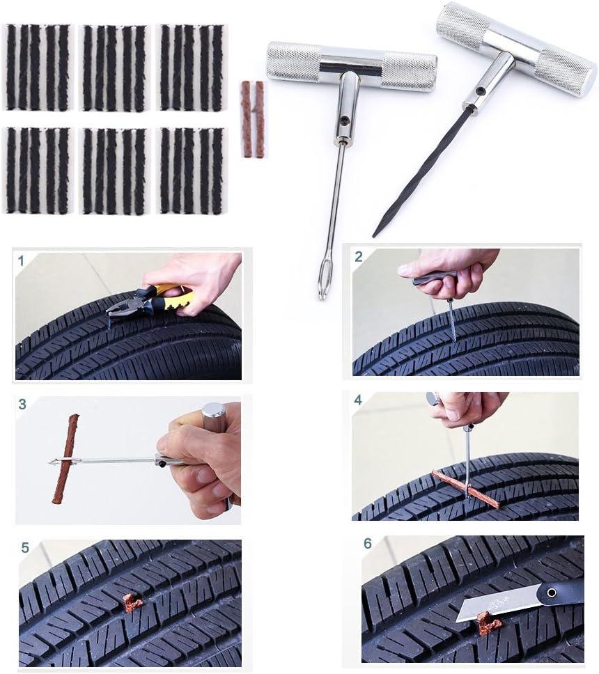 Poncherish 40pcs set professionale auto kit di riparazione pneumatici auto auto veicoli accessori