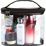 Heavy Duty Leak Proof Clear Travel Bags for Toiletries, Transparent Makeup Cosmetic Bag with Zipper and Handle (Large…