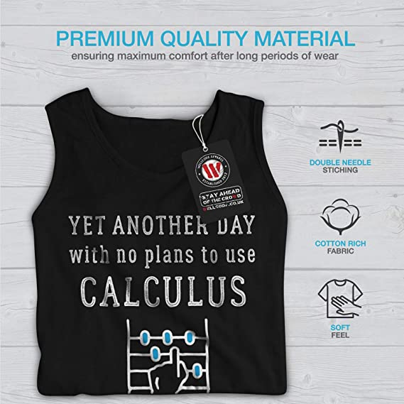 wellcoda No Plans Calculate Mens Sweatshirt Calculus Casual Jumper