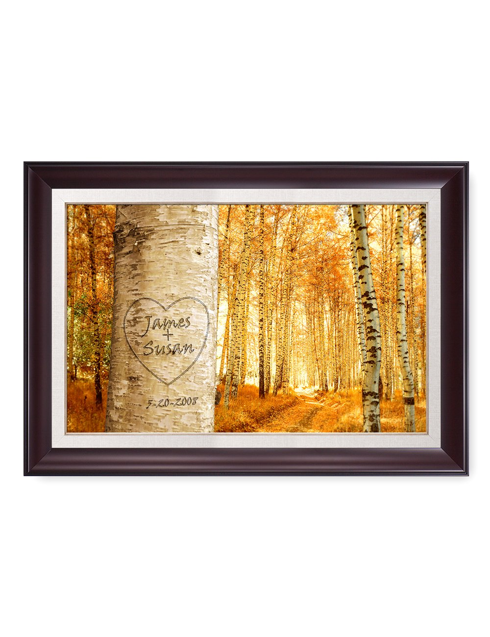 DecorArts - ''love grows'' - Personalized Framed Canvas Prints Gift, includes Names and the Special Date - Perfect Gift for Anniversary, Valentine's day,Wedding. Framed size: 34'' x 24'' by DECORARTS