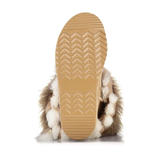 H4F OOG by Damen echt Leder Boots Stiefel Pelz Fell Fellstiefel Fox Mini