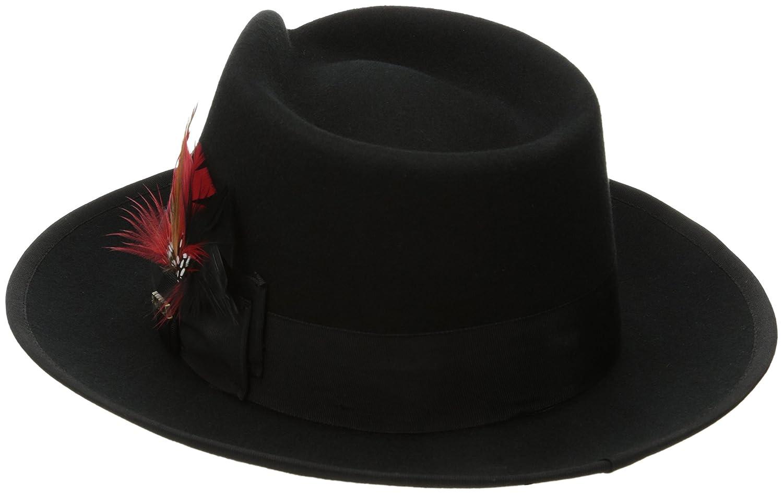799de2a2b5a36 Scala Classico Men s Wool Felt Snap Brim Fedora at Amazon Men s Clothing  store  New Yorker Hat