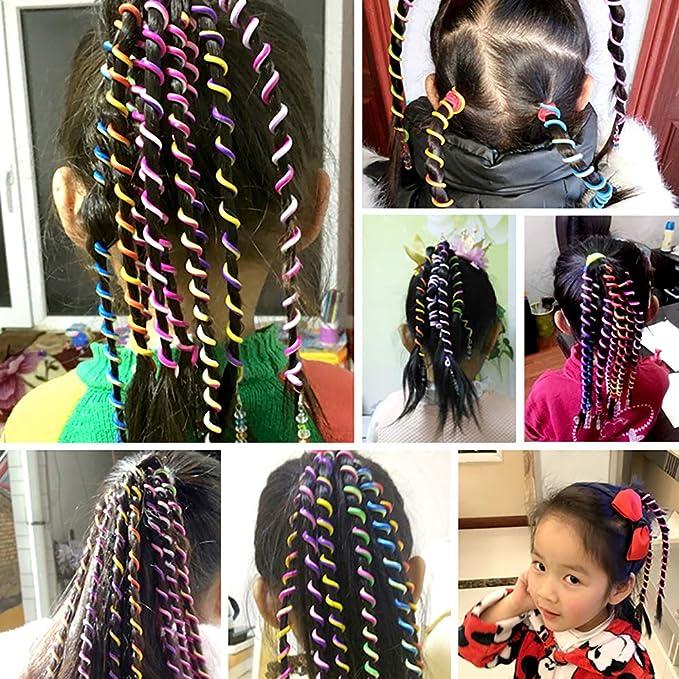 Espiral Rizador de Pelo, Trenzado de Onda Twist Clip Rizo del Cabello Para Los Niños Mujeres Accesorios de Pelo, Color aleatorio 6 Piezas: Amazon.es: ...