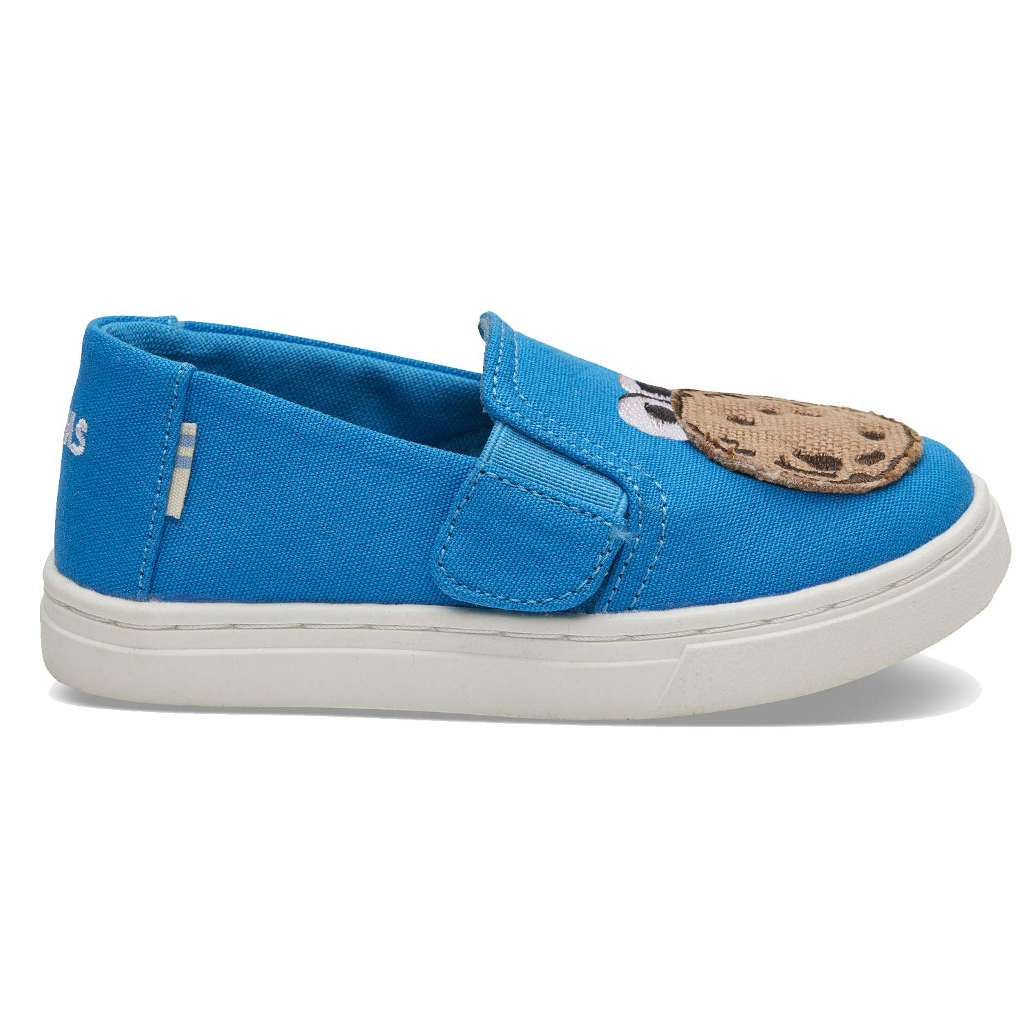 TOMS Sesame Street X Cookie Monster Applique Tiny Luca Slip-Ons 10013646 (Size: 9) Blue by TOMS (Image #1)