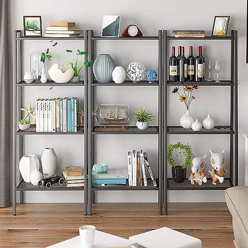 Ladder Bookshelf 4 Levels,Wide Industrial Ladder