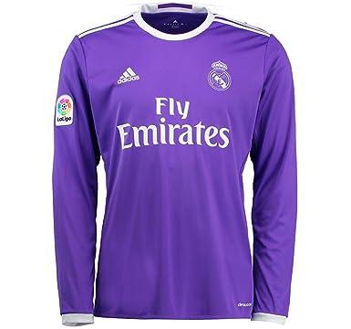 d7c9c5e856d Amazon.com: adidas 2016-2017 Real Madrid Away Long Sleeve Shirt ...