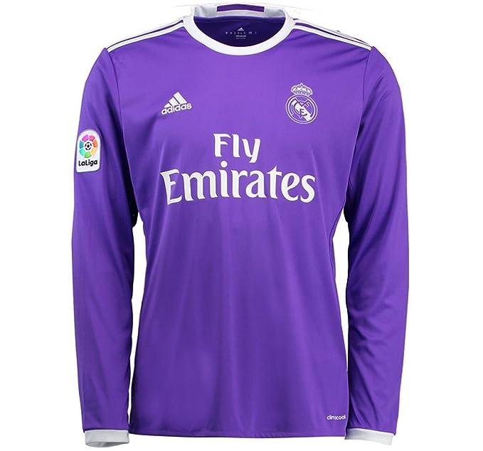 reputable site fac7d 46092 Amazon.com: adidas 2016-2017 Real Madrid Away Long Sleeve ...