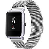Modaworld _Correa de reloj Pulsera xiaomi huami amazfit bip Correas Pulsera de Acero Inoxidable para Xiaomi Amazfit Bip Youth Watch (Plata)