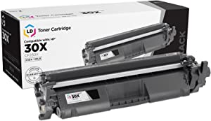 LD Compatible Toner Cartridge Replacement for HP 30X CF230X High Yield (Black)