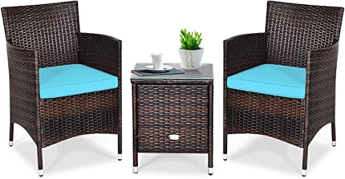 Tangkula Patio Furniture Set 3 Piece
