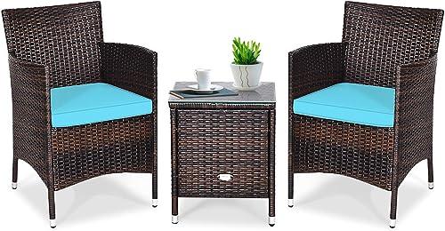Tangkula Patio Furniture Set 3 Piece