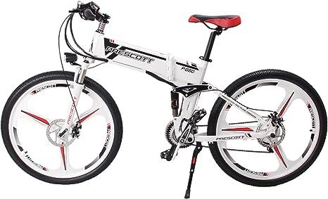 Prescott Bicicleta eléctrica eléctrica Plegable 250W con batería ...