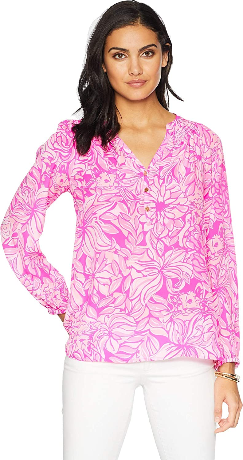 afdeeb82ee60c Lilly Pulitzer Womens Printed Elsa Top at Amazon Women s Clothing store