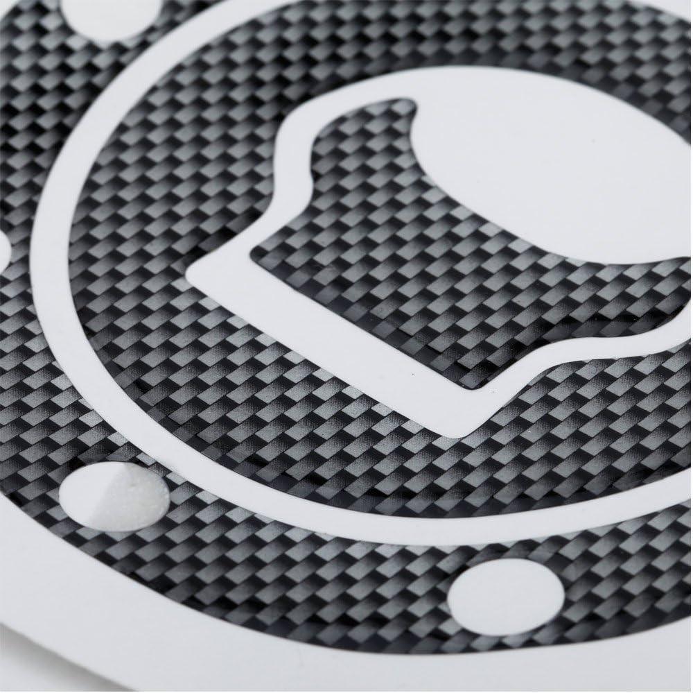 SODIAL New Cover Sticker Carbon Fuel//Tankdeckel Cover Pad Sticker F/ür Gsxr 600 750 1300 Sv1000 Gsf 1200 Bandit Black
