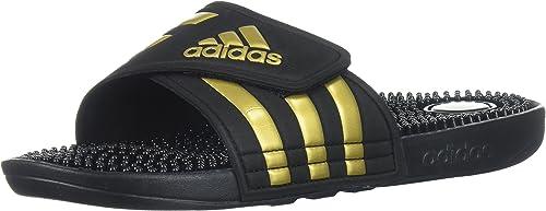 adidas Women's Adissage W Slide Sandal Metallic GoldLegend