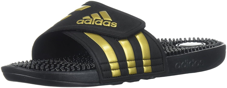 adidas Women's Adissage W Slide Sandal B071P399RK 7 B(M) US|Legend Ink/Metallic Gold/Legend Ink