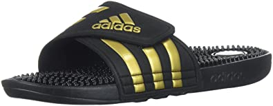 Adidas Women's Adissage W Slide Sandal, Legend Ink/Metallic Gold/Legend Ink,