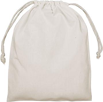25 Bolsas de algodón, Color Natural, Aprox. 25 x 30 cm, Doble ...