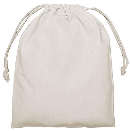 100 Bolsas de algodón, Natural, Aprox. Cordón de 25 x 30 cm ...