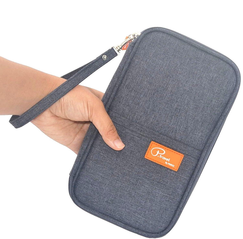 flymei travel wallet passport wallet with hand strap passport holder travel organizer wallet for