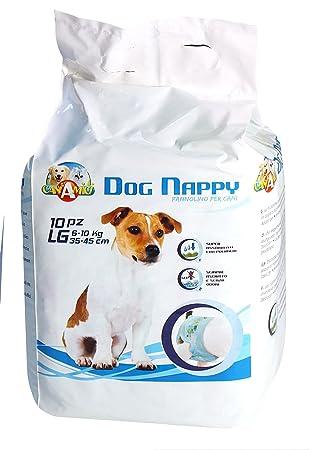 Croci perro pañales, grandes, pack de 10