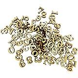 MagiDeal 100pcs Chiffre Arabe en Bois 0-9 Scrapbooking Embellissements 15mm
