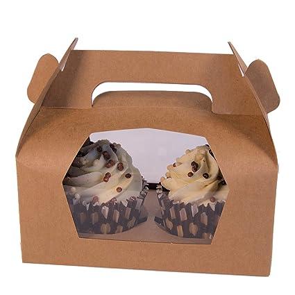 Star Twin Kraft Cajas de cartón para Cupcakes (10)