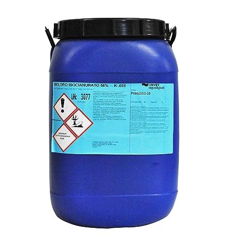 Dicloro 56% cloro granulare clorazione shock polvere acqua piscina kg 50 560c970b7d7b