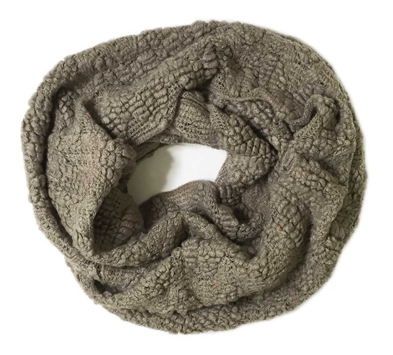 Aesthetinc Classic Solid Color Soft Boucle Infinity Knit Scarf