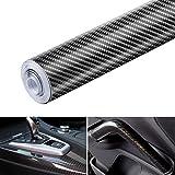 Película autoadhesiva de vinilo de fibra de carbono 6D, resistente al agua, sin burbujas, adaptada a la apariencia y al inter