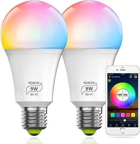 MagicLight Smart WiFi 9W 80w Equivalent Light Bulb No Hub Required