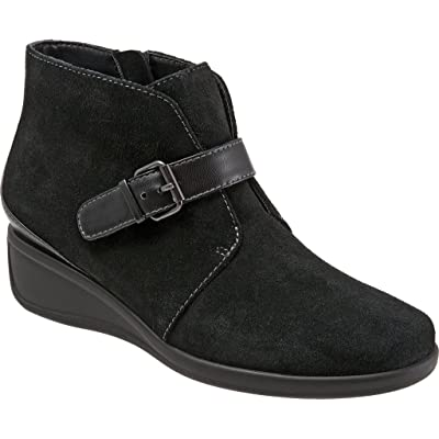 Trotters Women's Mindy Ankle Boot, Black Suede, US 6 N | Ankle & Bootie