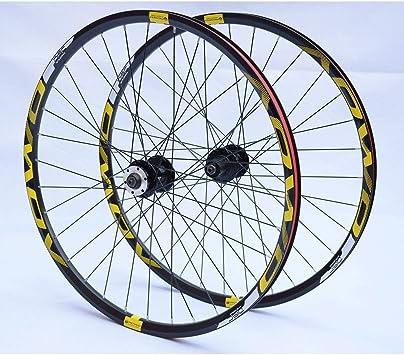 MZPWJD Ruedas MTB 26 27.5 29 Pulgadas Juego Ruedas Bicicleta Montaña Llantas Doble Pared Freno Disco 8-10 Velocidades Cassette Hub 32H QR: Amazon.es: Deportes y aire libre