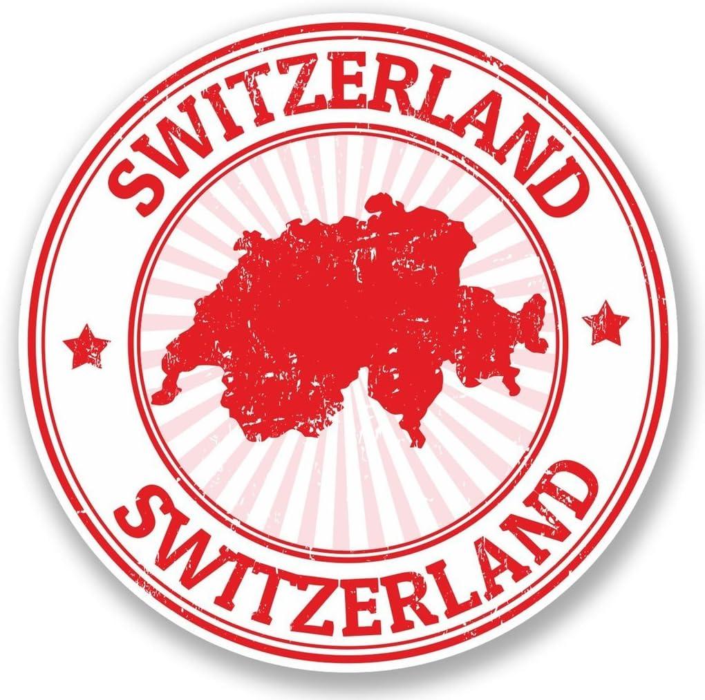 2 x Switzerland Vinyl Sticker Laptop Travel Luggage Car #5396