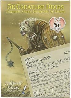 Amazon com: Inkwell Ideas 5e Creature Decks: Beasts, Oozes