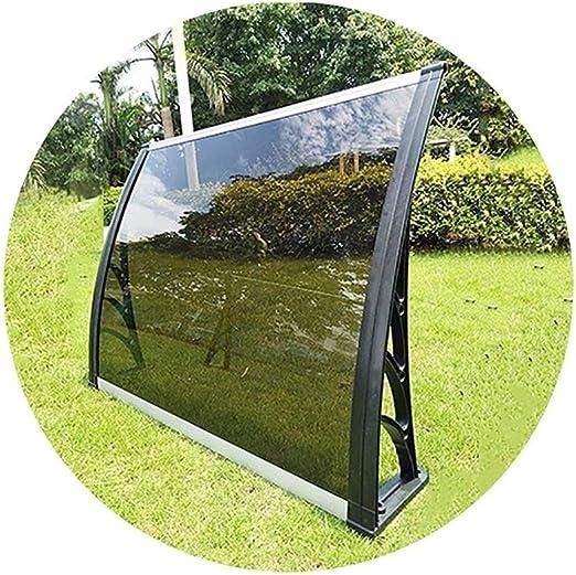 Marquesina Puerta Exterior QIANDA Policarbonato Panel Marrón Patio Techo Cubrir Arco Marquesinas Casa Al Aire Libre Solicitud (Size : 80cmx100cm): Amazon.es: Jardín