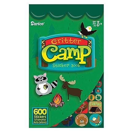 Amazon Darice 106 3091 Critter Camp Sticker Book For Kids 600