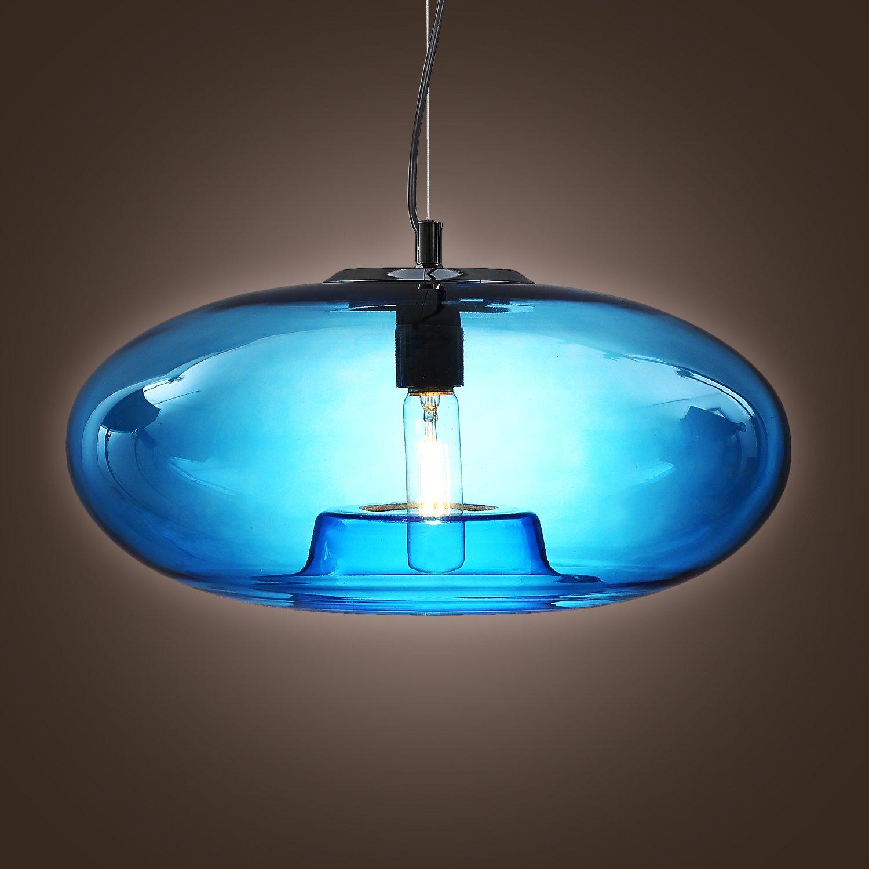 Lightinthebox Vintage Glass Pendant Light in Blue Bubble Modern Design, Mini Style Ceiling Light Fixture for Dining Room, Bedroom, Living Room, Bulb Included