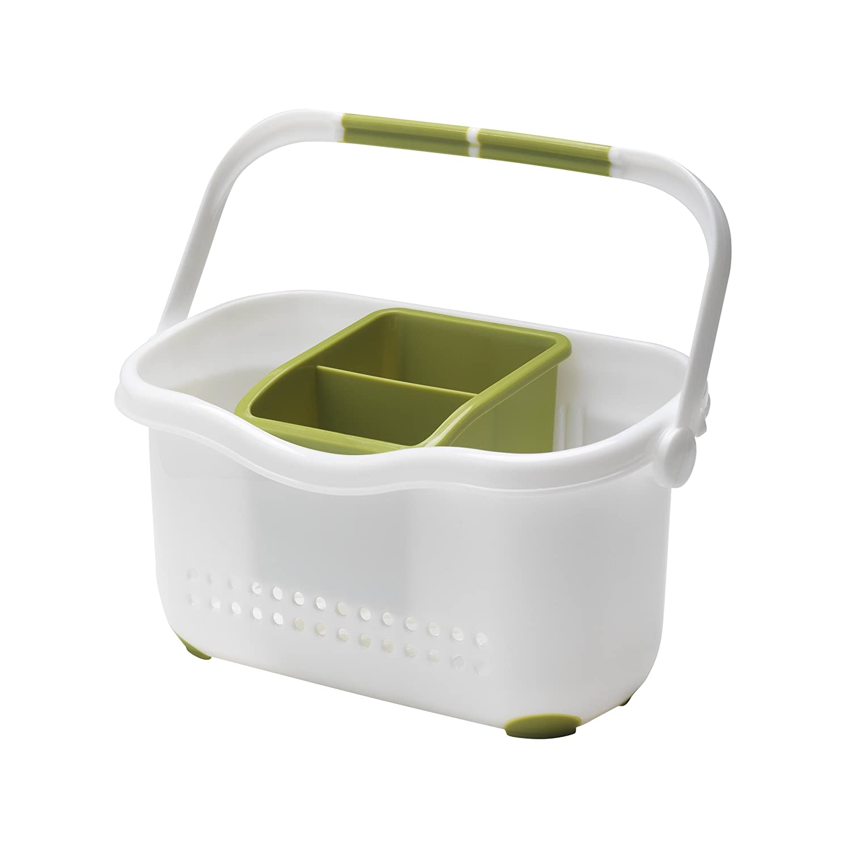 Addis Sink Caddy, White/Grass Green: Amazon.co.uk: Kitchen & Home