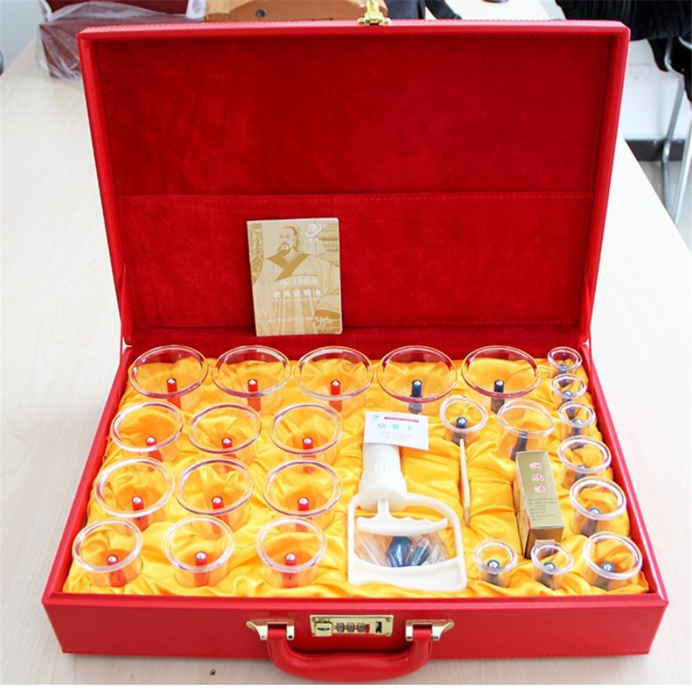 24 Dosen Set Schröpfen Gerät Meridian Massage Vakuum Kunststoff Schröpfen Geschenk Geschenk Box