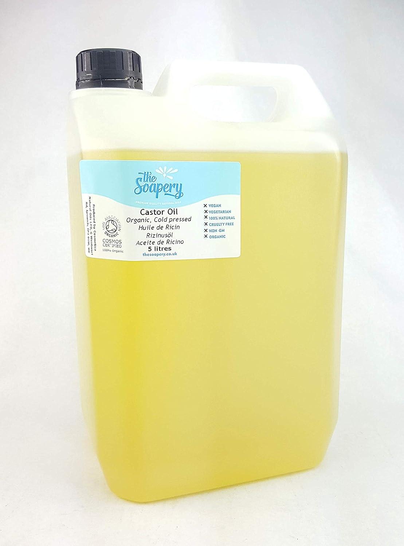 Aceite de ricino orgánico prensado en frío, 5 litros, 100% puro: Amazon.es: Belleza
