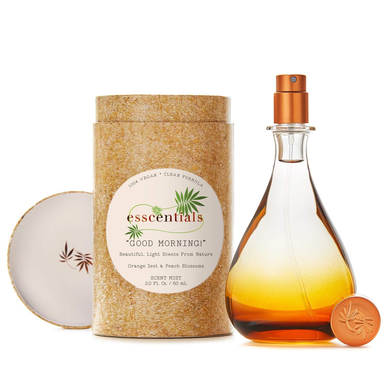 ESSCENTIALS Good Morning! Fragrance Mist | Light, Buildable, Spray Fragrance Featuring Subtle Notes Of Orange Zest & Peach Blossoms, 2.0 oz / 60mL