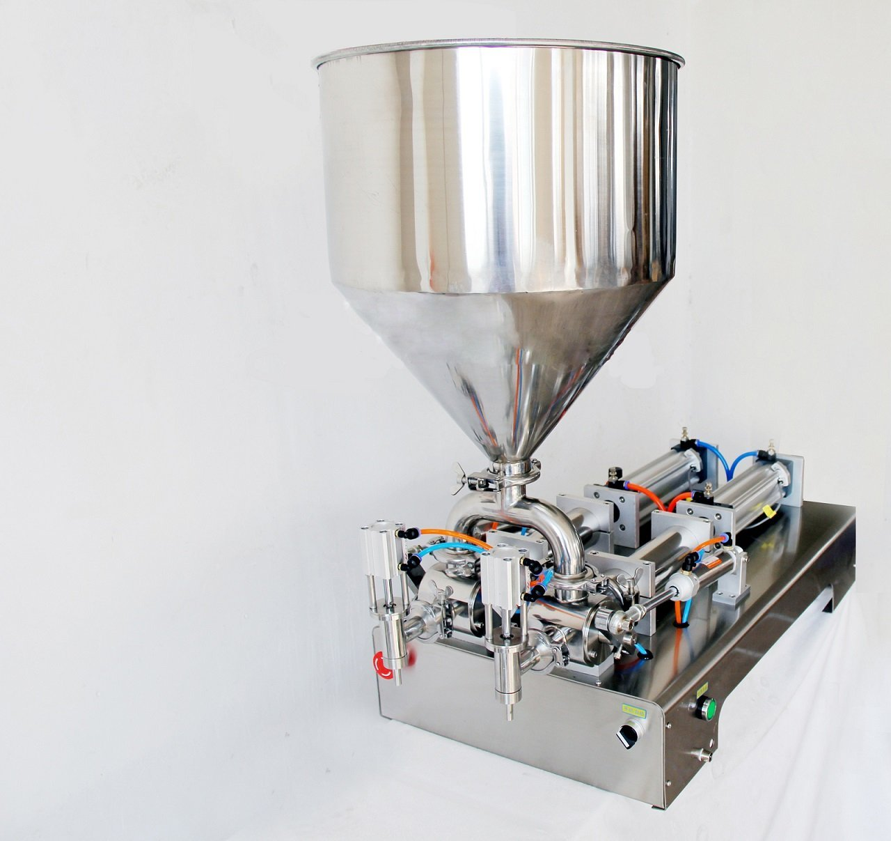 Double Heads Cream Filling Machine G2WY, With 2 Tube Pneumatic/Two Outlets 1000-5000ml 110V