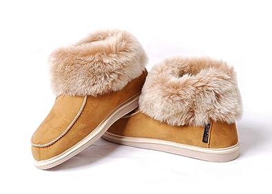 43e469adf3e Yeti & Sons Hand Crafted Luxury Men's Unisex Sheepskin Boot Slippers