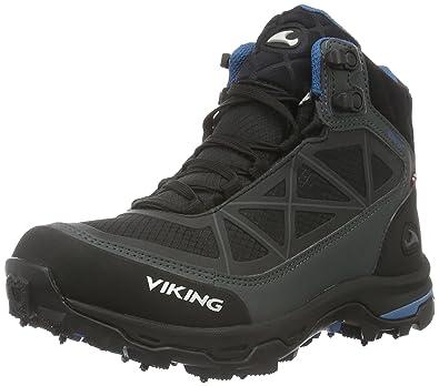 Viking Unisex-Erwachsene Ascent II Spikes GTX Trekking-& Wanderhalbschuhe, Schwarz (Black/Silver 246), 40 EU